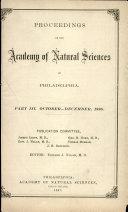 Proceedings of The Academy of Natural Sciences (Part III -- Oct.-Dec., 1886) Pdf/ePub eBook