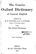 The Concise Oxford Dictionary Of Current English Book PDF