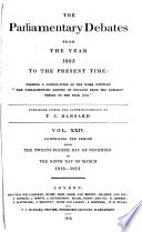 The Parliamentary Debates From The Year 1803 To The Present Time Book PDF