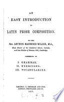 An easy introduction to Latin prose composition