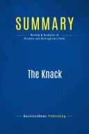 Summary : The Knack - Norm Brodsky and Bo Burlingham: How ...
