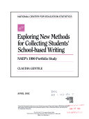 Exploring New Methods for Collecting Students  School based Writing