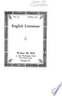 English Literature ...