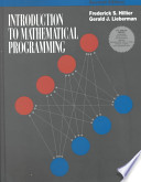 Introduction to Mathematical Programming (With Tutorial Software Disk)