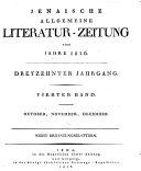 Jenaische allgemeine Literatur-Zeitung vom Jahre ...