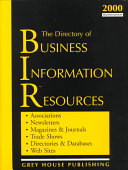 The Directory of Business Information Resources Book