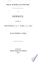 Death of the President of the United States [W. H. Harrison]. A sermon [on Joel ii. 10], etc