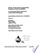 Effects of Agricultural Conservation Practices on Fish and Wildlife Book