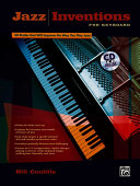 Jazz Inventions for Keyboard: Book & CD