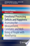 Emotional Processing Deficits And Happiness Book PDF