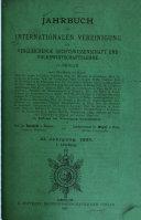 Jahrbuch der Internationalen vereinigung für Vergleichende rechtswissenschaft und volkswirtschaftslehre zu Berlin