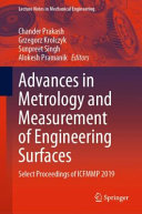 Advances in Metrology and Measurement of Engineering Surfaces
