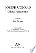 Joseph Conrad: Relations and aspects; The modern critical response, 1948-92