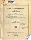 Views and Comments of the States [on Water Resources and Problems].