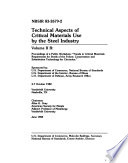 Technical Aspects Of Critical Materials Use By The Steel Industry B Proceedings Of A Public Workshop Trends In Critical Materials Requirements For Steels Of The Future Conservation And Substitution Technology For Chromium  Book PDF