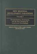 New Regional Development Paradigms  Decentralization  governance  and the new planning for local level development