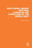 Pdf Routledge Library Editions: Language and Literature of the Middle East Telecharger