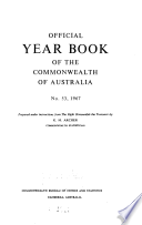 Official Year Book Of The Commonwealth Of Australia No 53 1967