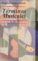 Diccionario t  cnico Akal de t  rminos musicales