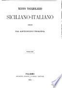 Nuovo Vocabolario Siciliano Italiano Book