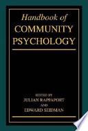 """Handbook of Community Psychology"" by Julian Rappaport, Edward Seidman"
