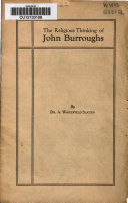 The Religious Thinking of John Burroughs Book PDF