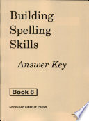 Building Spelling Skills 8 Answer Key  , Livro 8