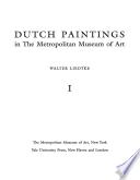 Dutch Paintings in the Metropolitan Museum of Art