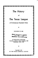 The History of the Texas League of Professional Baseball Clubs Book