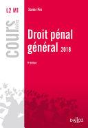 Droit pénal général 2018
