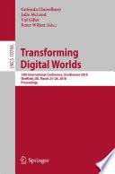 Transforming Digital Worlds Book