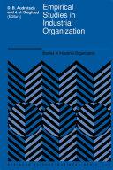 Empirical Studies in Industrial Organization [Pdf/ePub] eBook