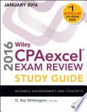 Wiley CPAexcel Exam Review 2016 Study Guide January Book