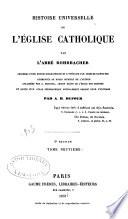 Histoire universelle de l'Eglise Catholique