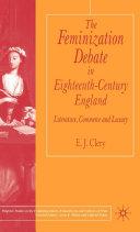 The Feminization Debate in Eighteenth Century England