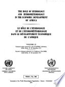 The Role of Hydrology and Hydrometeorology in the Economic Development of Africa: Technical papers