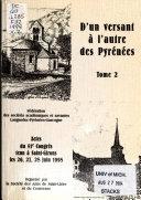 Actes du ... Congrés d'études regionales