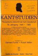 Kant Studien