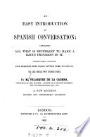 An Easy Introduction to Spanish Conversation     Book