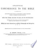 Analytical Concordance to the Bible on an Entirely New Plan