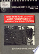 Guide to Reverse Osmosis Water Purification Unit Installation and Operation