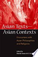 Asian Texts        Asian Contexts