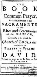 The Book of Common Prayer, and Administration of the Sacraments, and Other Rites and Ceremonies of the Church, According to the Use of the Church of England; Together with the Psalter Or Psalms of David, Pointed as They are to be Sung Or Said in Churches ebook