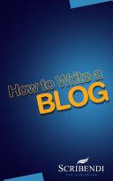 How to Write an Blog ebook
