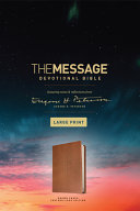 The Message Devotional Bible, Large Print (Leather-Look, Brown)the Message Devotional Bible, Large Print (Leather-Look, Brown)