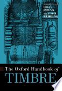 The Oxford Handbook Of Timbre