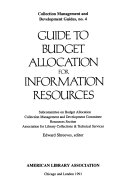 Guide to Budget Allocation for Information Resources