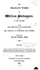 The Dramatic Works of William Shakespeare  in Ten Volumes  The author s life  Dr  Johnson s preface  Some account of the learning of Shakespeare  Tempest  Two gentlemen of Verona  Merry wives of Windsor