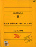State Mental Health Plan for Fiscal Year     Book