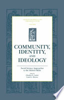 Community Identity And Ideology